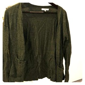 Madewell Hunter Green Thick Grandpa Cardigan